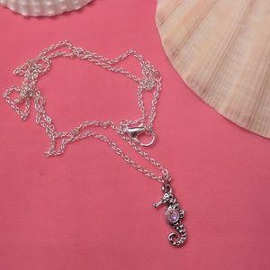 Seahorse Fashion Necklace w/Swarovski Accent